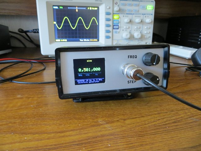 AD9833 Waveform Generator on two meter radio