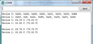code plusieurs 18b20 pour arduino