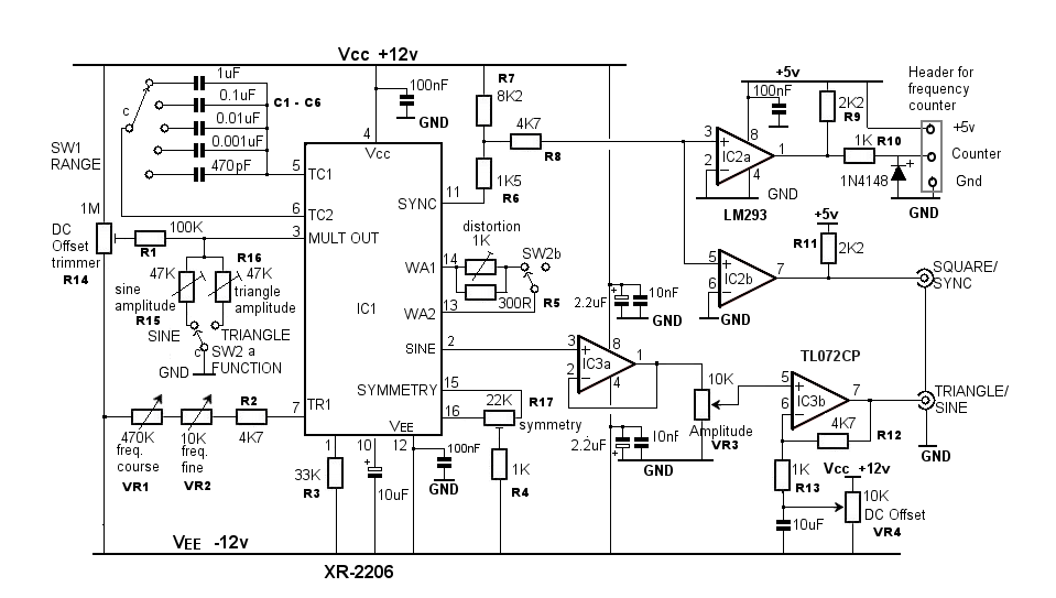 Circuito Xr2206 : Vco circuit diagrams design elsavadorla