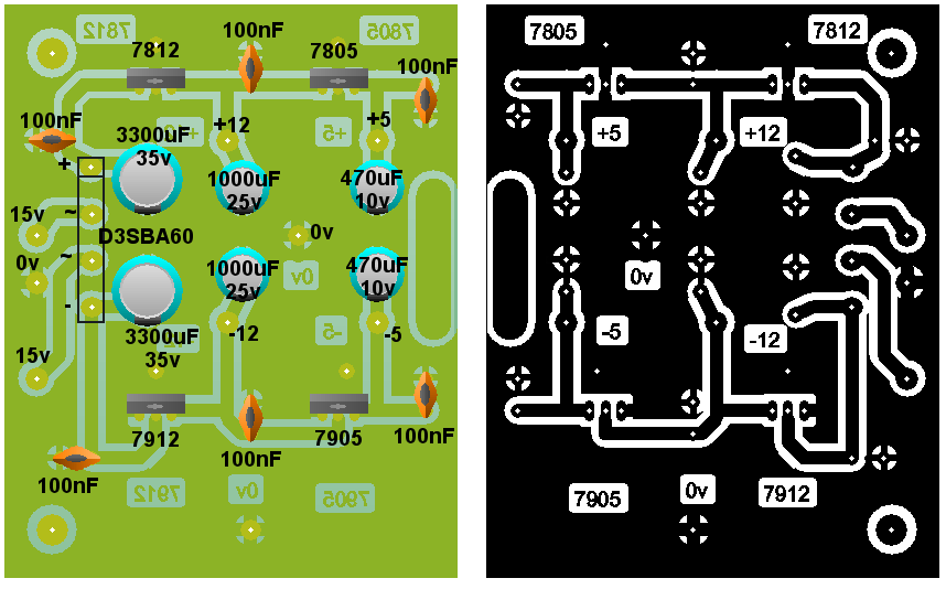 0 28v 6 8a Power Supply Circuit Using Lm317 2n3055 further St Operationsverstarker Op   Lm358 as well 12v Power Supply additionally Class A Pre lifier as well pact Reverb. on dual voltage power supply